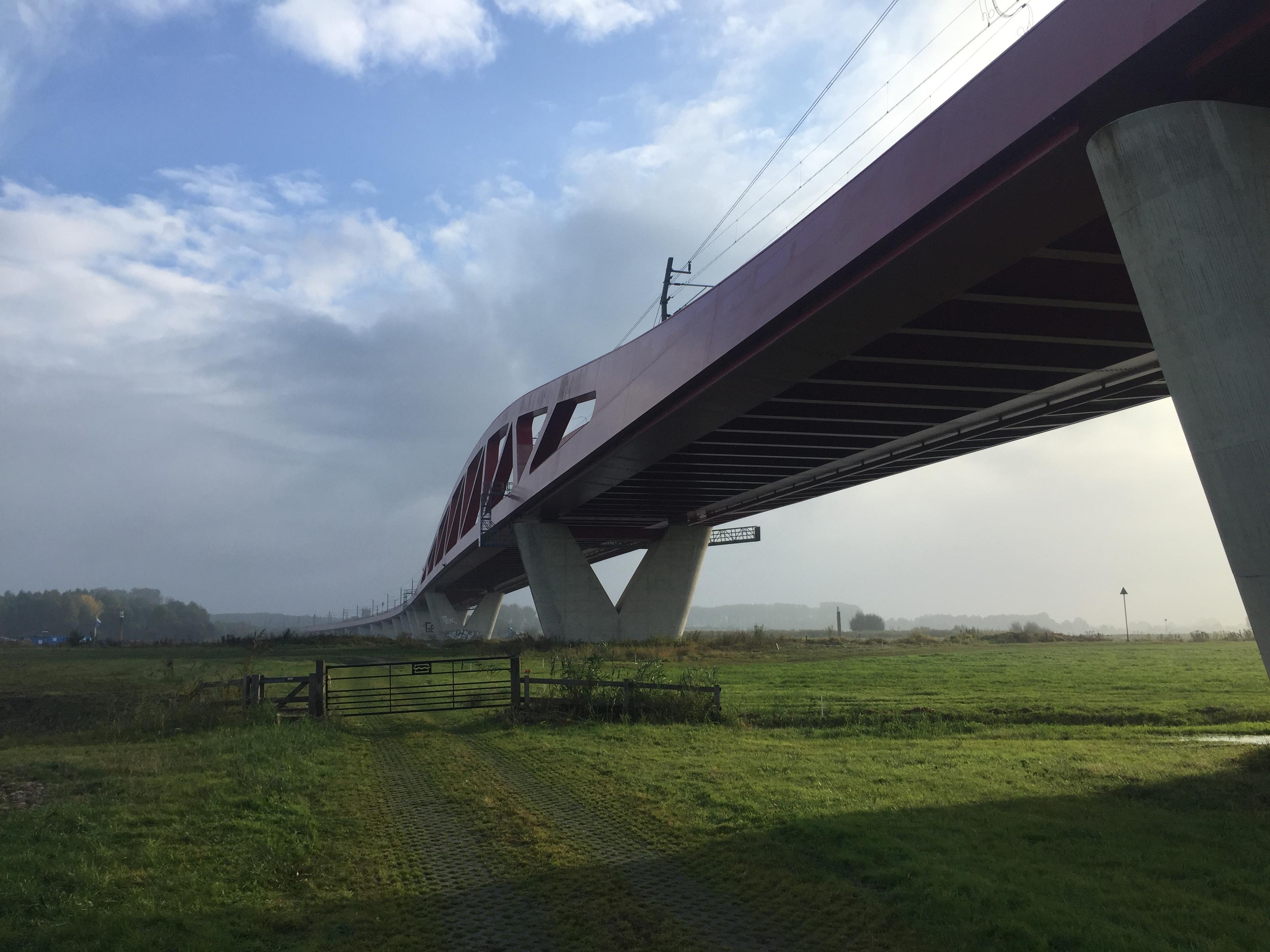 Hanzebrug bij Zwolle in Hanzelijn